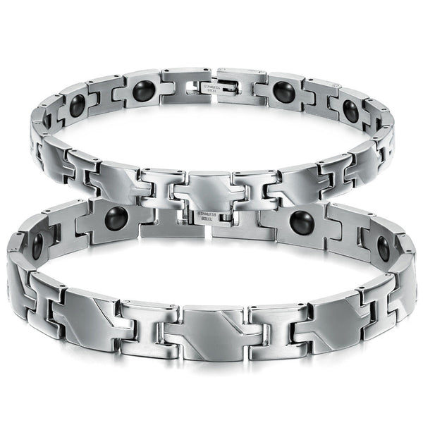 Anti-Fatigue Stainless Steel Magnetic Bracelet Balance Power Healthy Bracelet For Women Men Jewelry High Quality GS3242