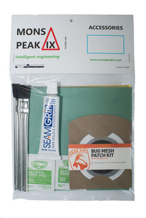 mons peak ix night sky tent home & field repair kit in package