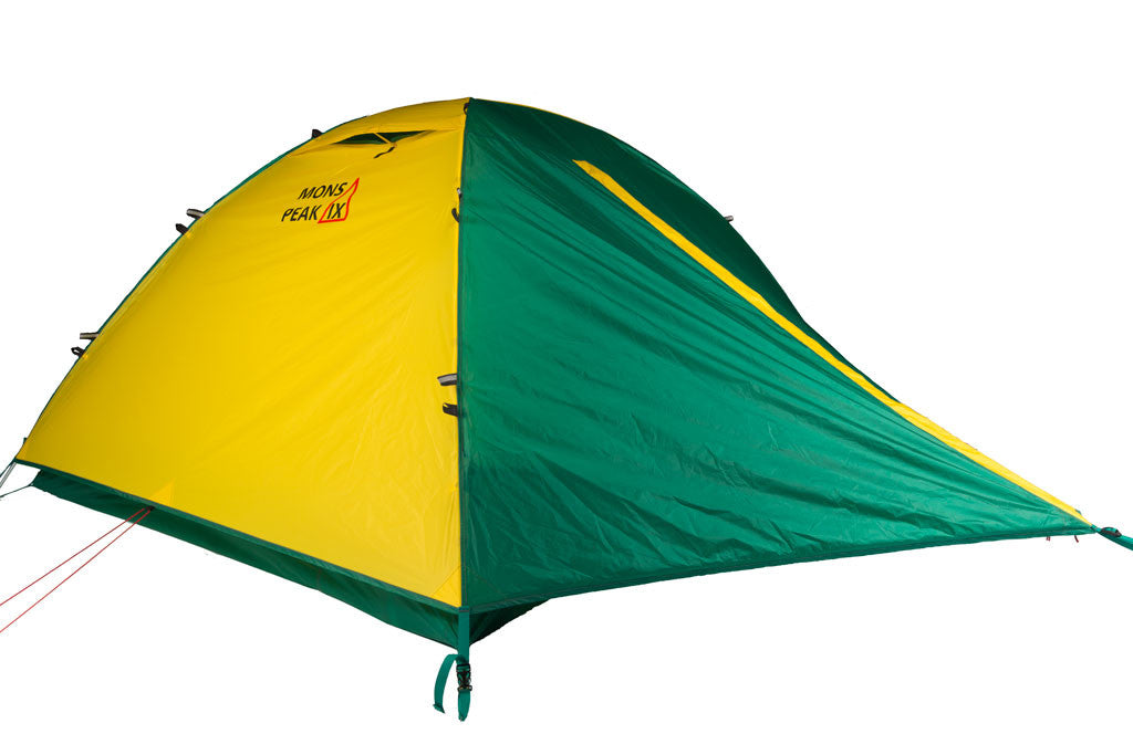 mons peak ix trail 43 backpacking tent 3 person with fly angle view  sc 1 st  Mons Peak IX & Trail 43 3 Person and 4 Person 2-in-1 Backpacking Tent - Mons Peak IX