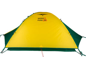 mons peak ix trail 43 backpacking tent 3 person with fly side view
