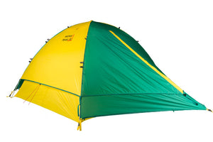 mons peak ix trail 43 backpacking tent 4 person with fly angle view
