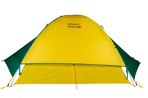 mons peak ix trail 43 backpacking tent 4 person with fly side view