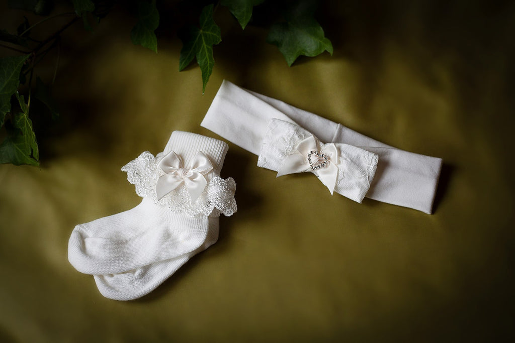 Christening Hair Band with Diamante 'Maria'