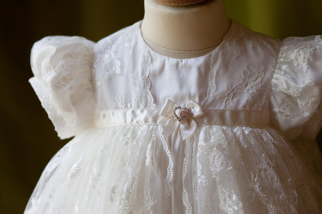 Christening Gown 'Amelie' Silk and Lace