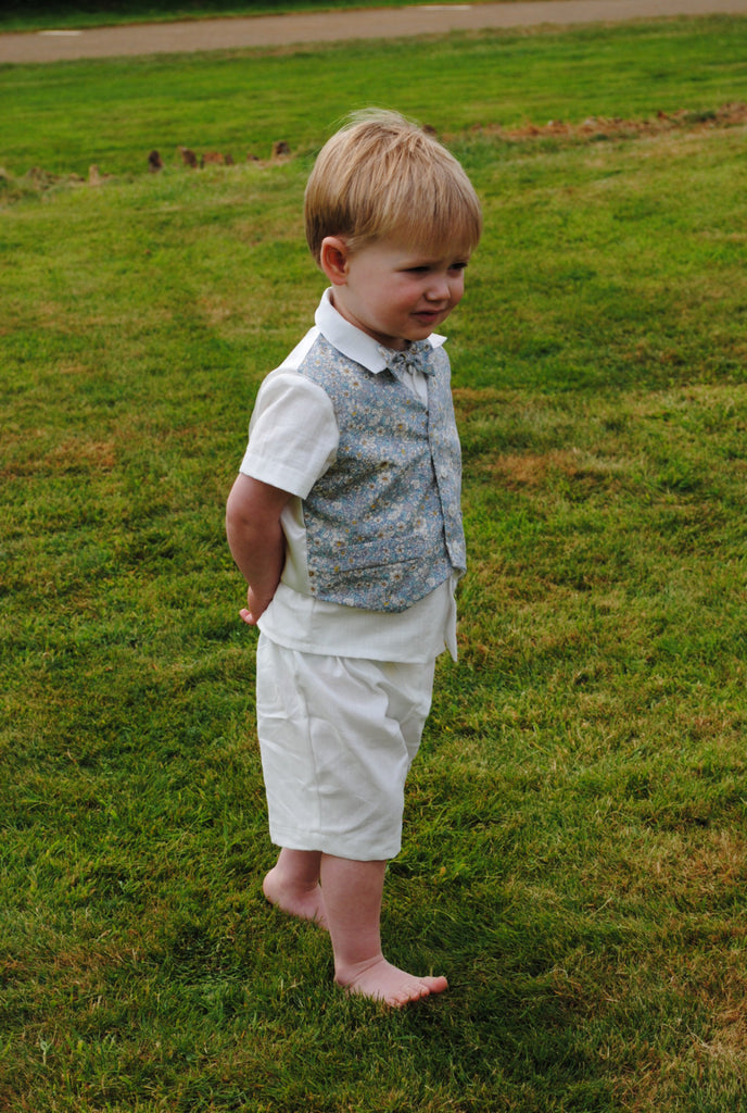 Page Boy outfit 'Alex'  Linen suit and waist coat set