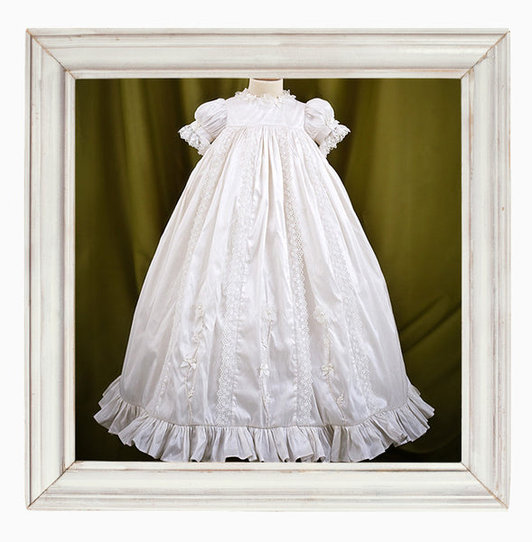 Silk Christening Gown 'Eden'
