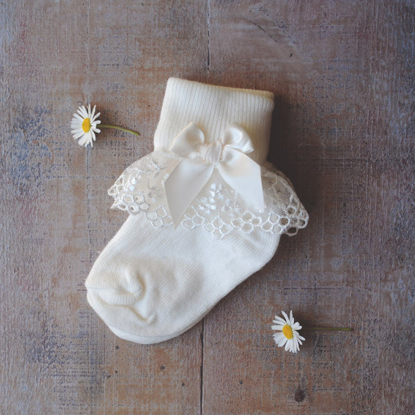 Christening socks 'Eden'