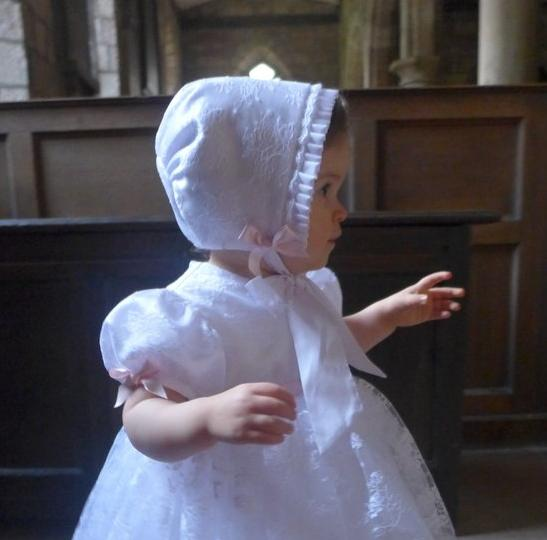 Princess Charlotte Lace Christening Bonnet