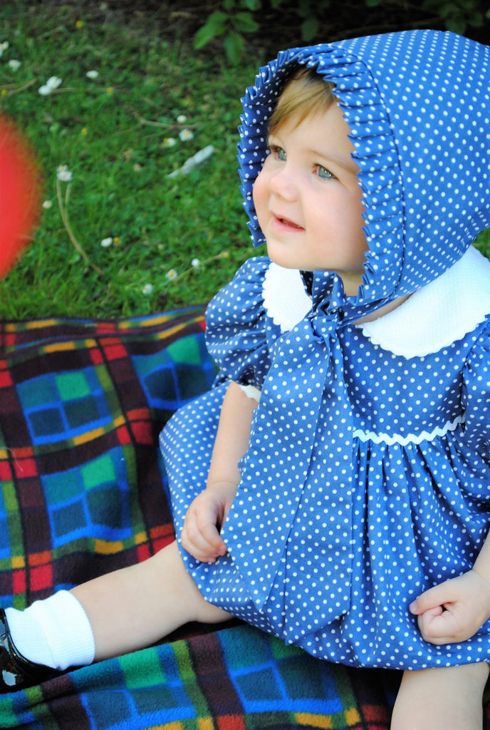 Traditional cotton 'Enid' dress with Peter Pan collar  limited edition