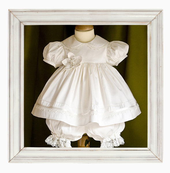 Eve Silk Christening Dress and Bloomers