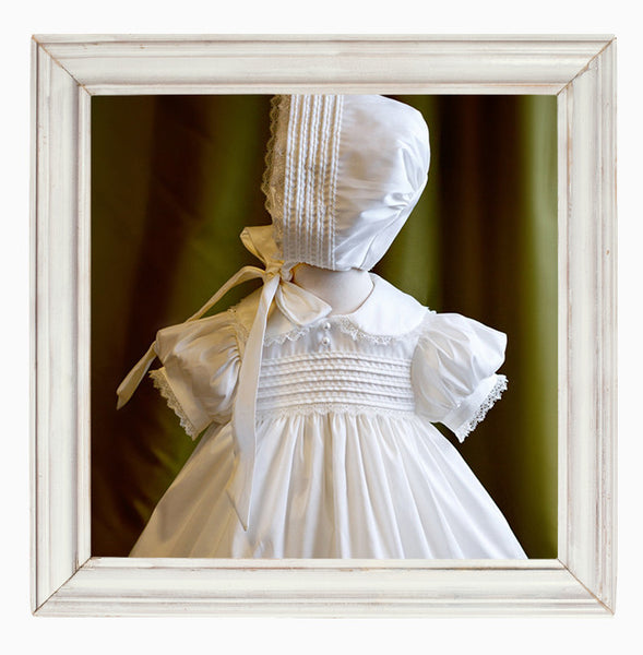 Faith Girls traditional Christening Gown and Bonnet Set