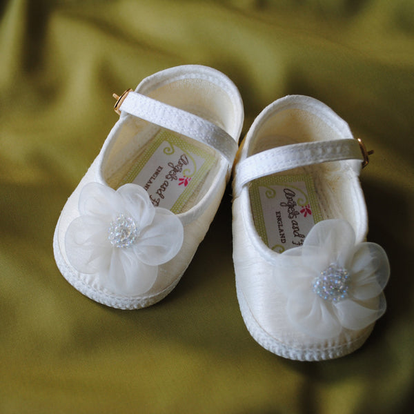 Fleur Girls Christening Shoes