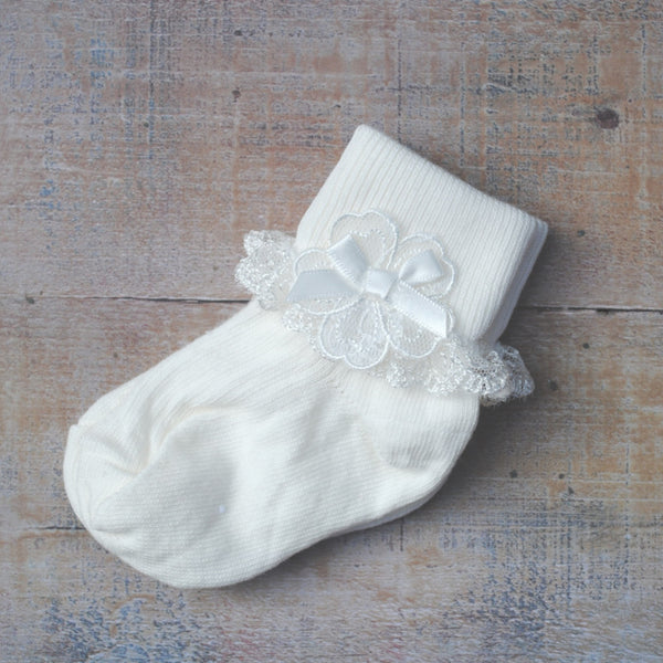 Christening socks 'Grace'