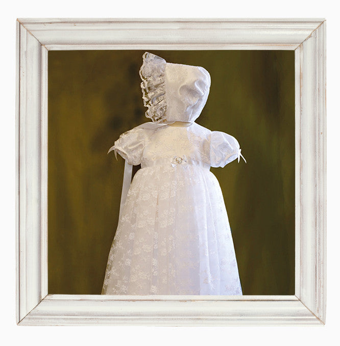 Lace Christening Gown and Matching Bonnet - Maria
