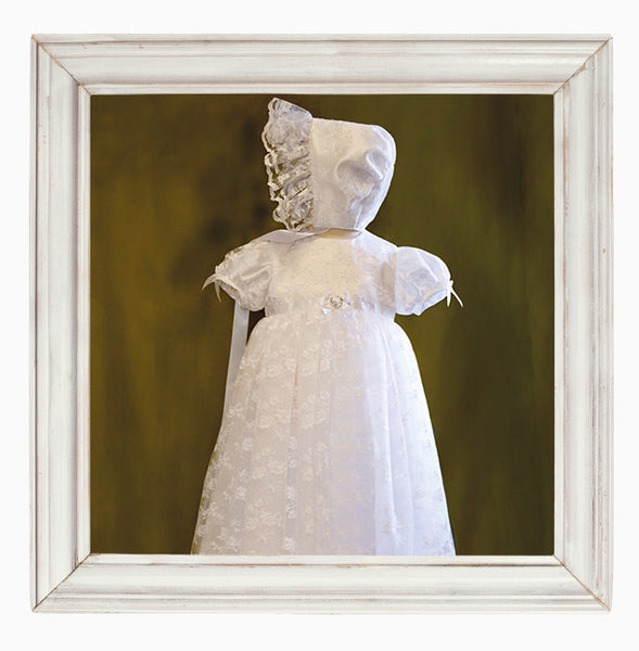 Maria Lace Christening Gown and Matching Bonnet