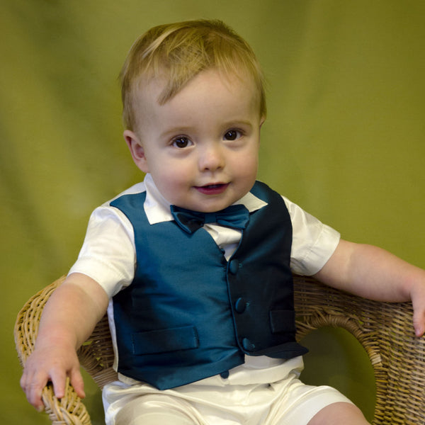 Regal Page Boy Christening Waistcoat available in sizes 3 months to 6 years