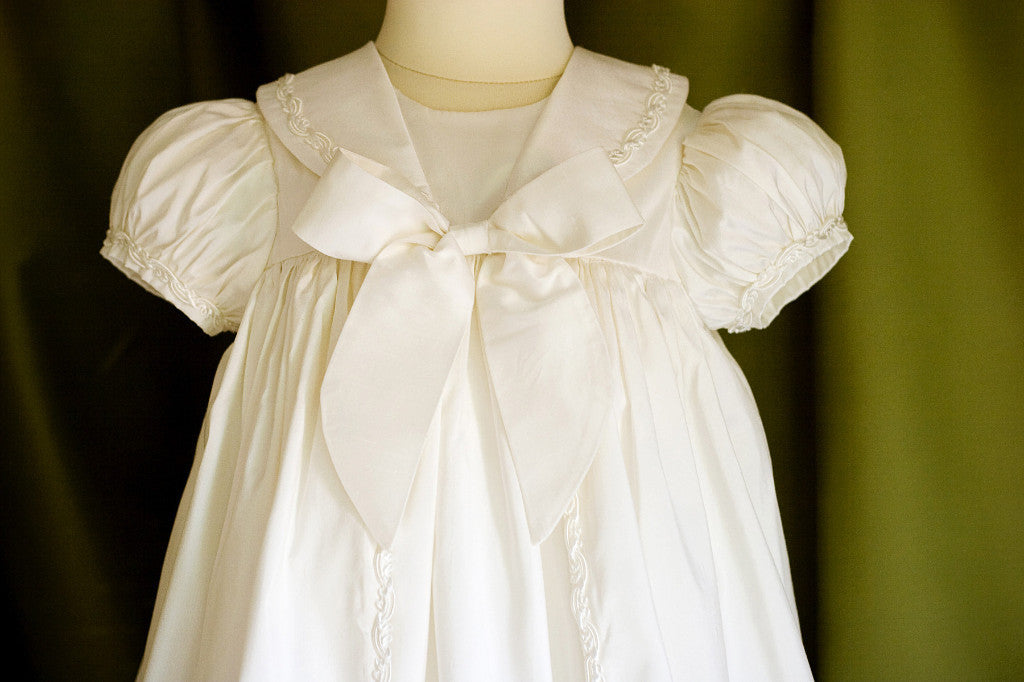 Raphael (Braid Trim) Unisex Christening Gown