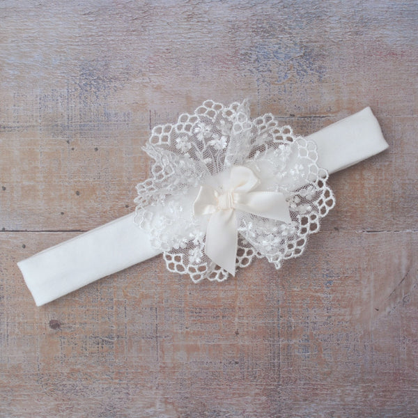Eden Christening Hairband