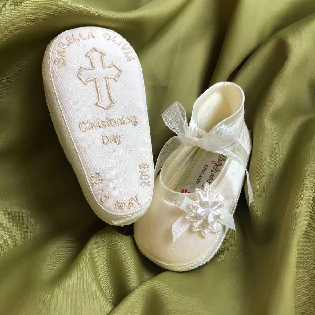 Personalised Christening Shoes Angel