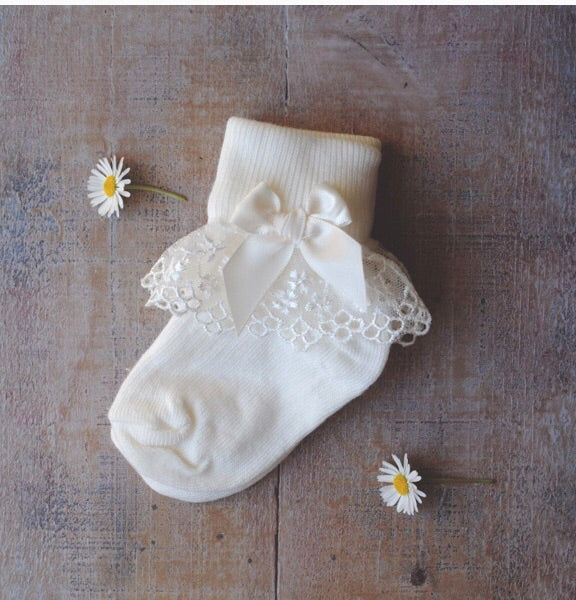 Christening bonnet bib shoes & socks