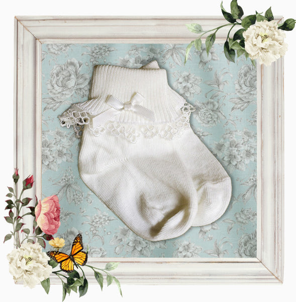 Christening Socks 'Angel'