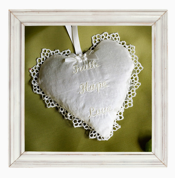 Personalised Lavender Heart