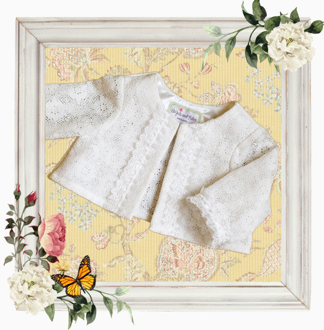 Christening Cardigan 'love'