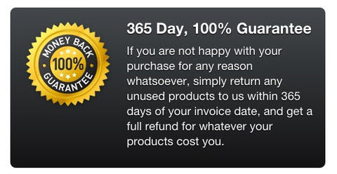 100% 365 Day Guarantee