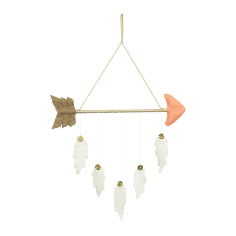 Arrow & Feather Mobile Peach