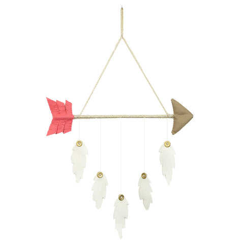 Arrow & Feather Mobile Pink