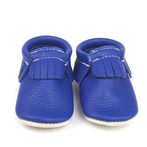 Leather Moccasins 'Blue Jay'