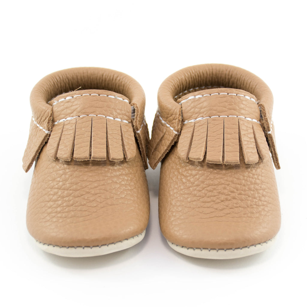 Leather Moccasins 'Fawn'