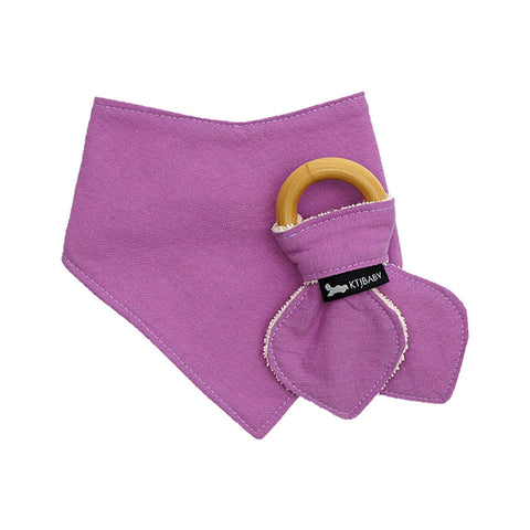 Organic Bib & Teether Set Purple