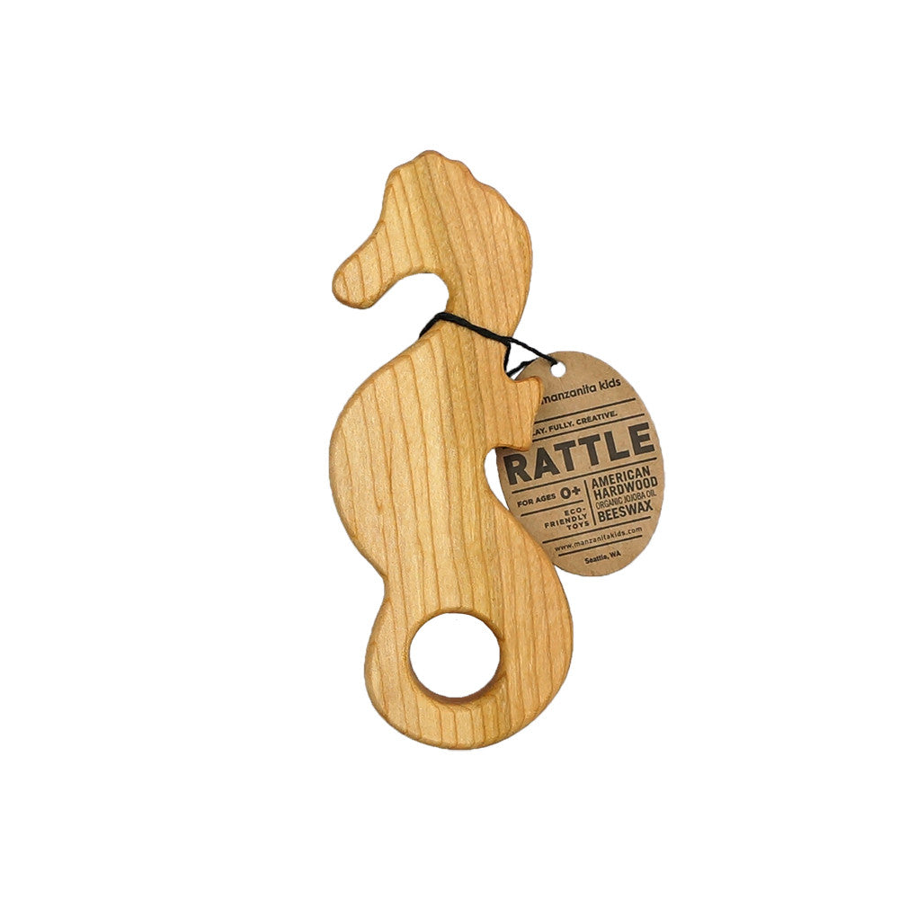 Wooden Seahorse Rattle