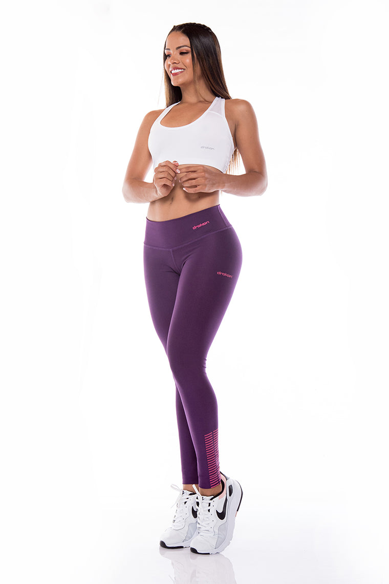 Legging Sport Femme  I Fitness I Crossfit DRAKON  - Basic Colors Berry