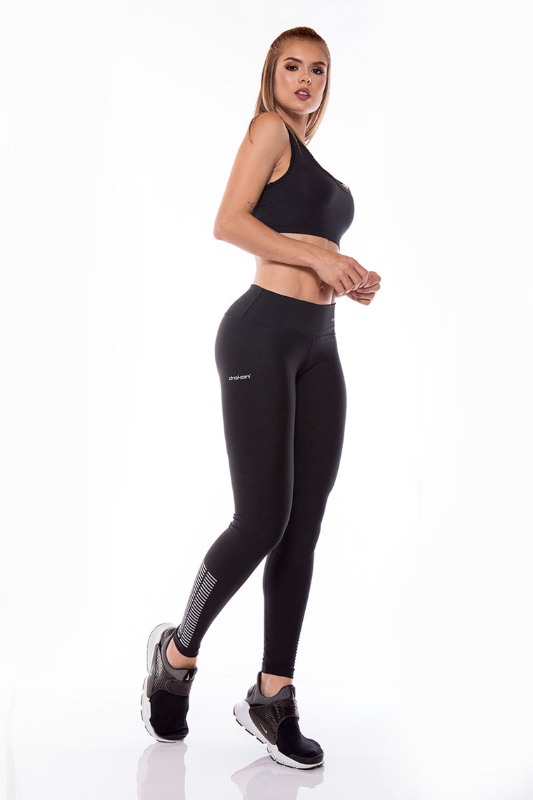 Legging Sport Femme  I Fitness I Crossfit DRAKON  - Basic Colors Black