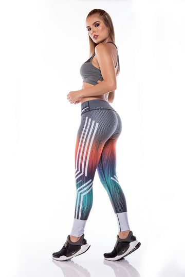 Legging Sport I Legging Fitness I Legging Crossfit  - Nine Color DKN1 Side
