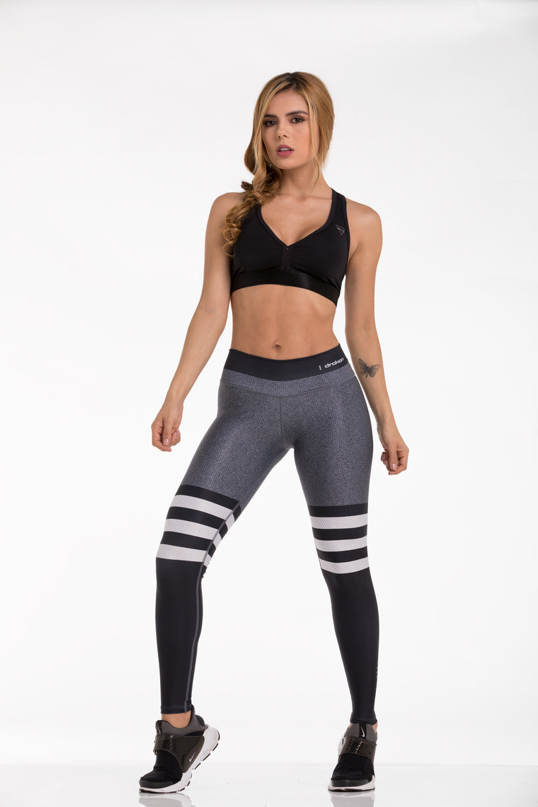 Legging Fitness I Crossfit DRAKON LEGGS - Gray and Black