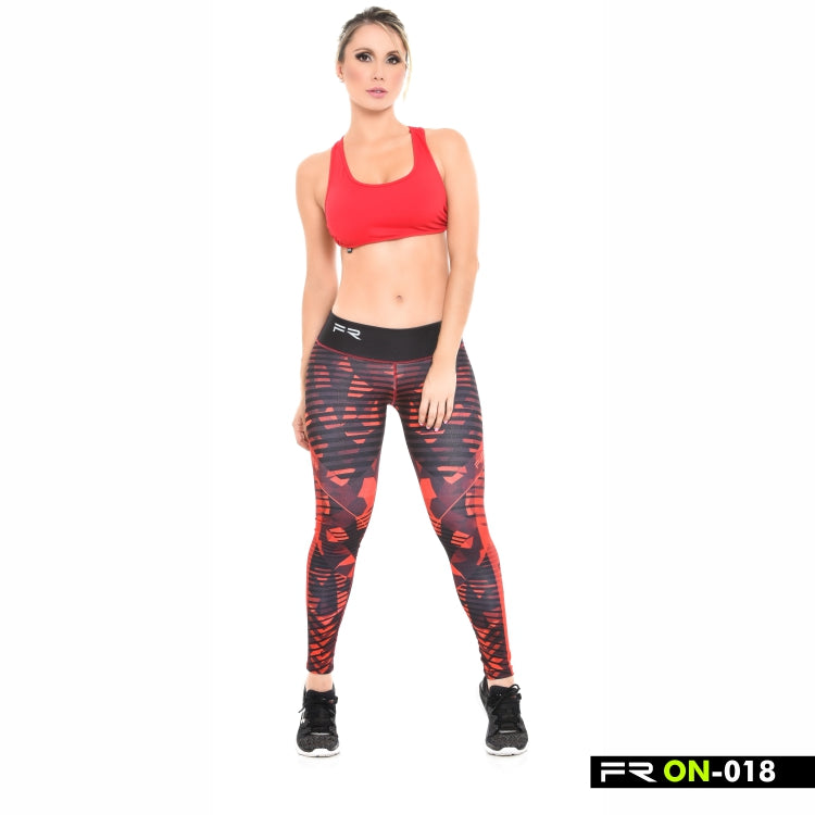 Legging Fitness I Crossfit Motion 018 - Noir Rouge