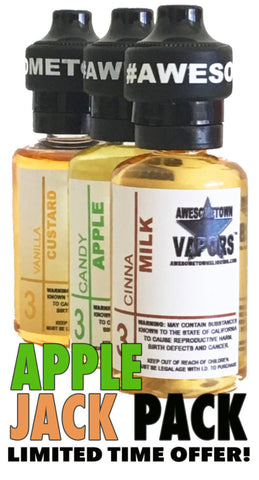 Apple Jack Pack -        90ml / 3 Flavor Combo Pack