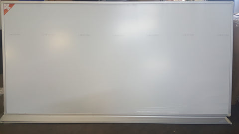 12ft x 4ft Porcelain Steel Magnetic Dry Erase Whiteboard w/ Aluminum Frame and Tray (MS)