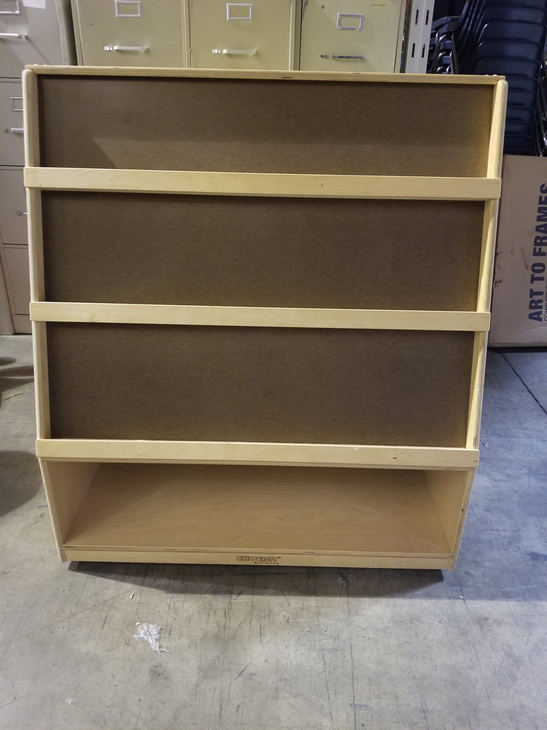 Children's Bookcase w/ Storage, Double Sided, Wooden, (SAI)(WPO)