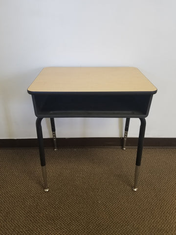 Open Front Student Desk, Wood Grain Top (RF)