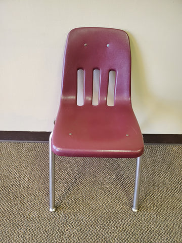 "18"" Virco 9000 Series Student Chair - Burgundy (RF)"
