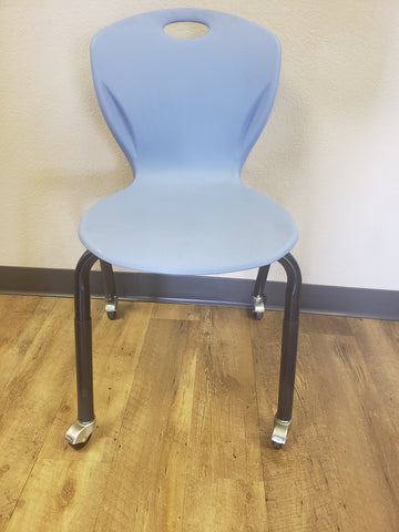 Teacher Chair -18in Artco Bell Discovery Student Chair w/ Casters, Padded, Powder Blue (RF)