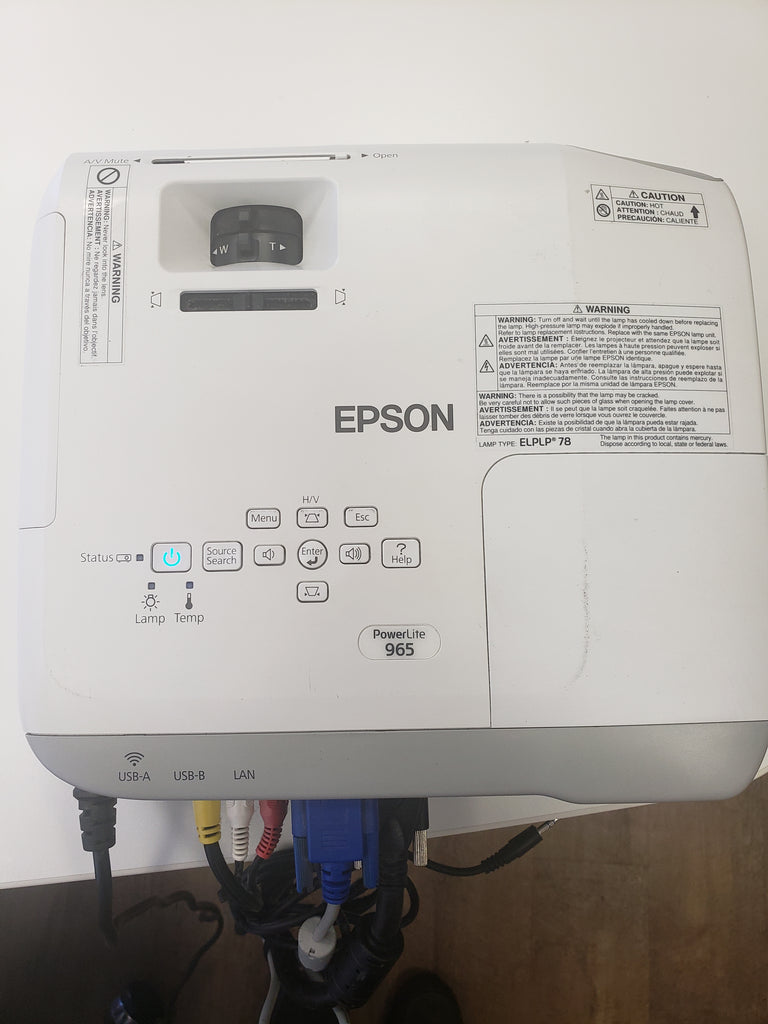 EPSON Powerlite 965 Projector (Includes Remote, Cables and Ceiling Mount) (RF)