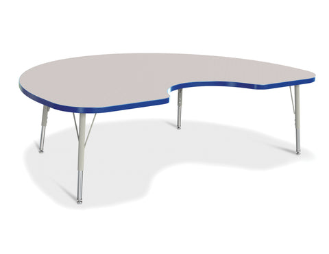 "Berries® Toddler Size Kidney Activity Table Top - 60"" x 30"" - Gray/Blue (MS)"
