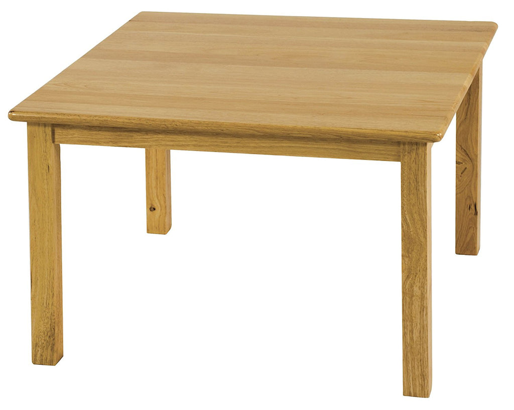 "30"" Square Hardwood Activity Table, 22"" H, Natural (MS)"
