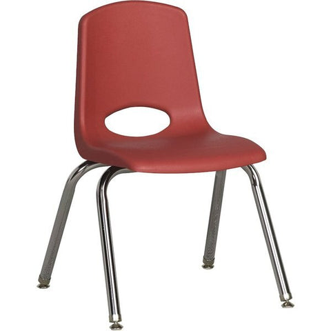 10inch Stack Chair, Burgundy, Chrome Swivel Glide (MS)