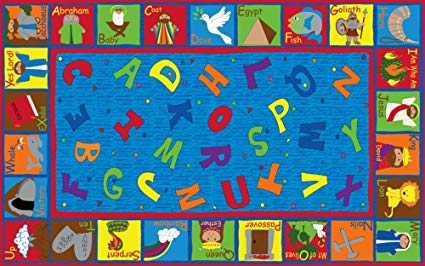 Bible Sunday School with ABC's Rug 6' x 8'6 (MS)